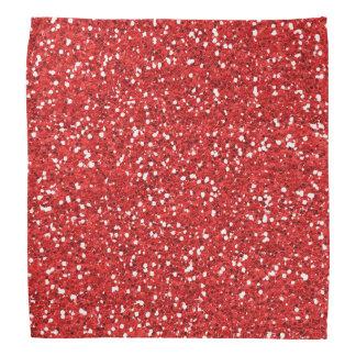 Red Gold Foil Faux  Glitter Bandana