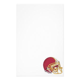 Red & Gold Football Helmet Stationery
