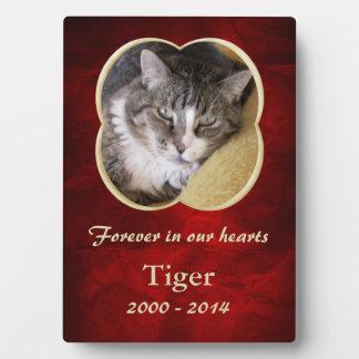 Red Gold Frame Pet Memorial Template