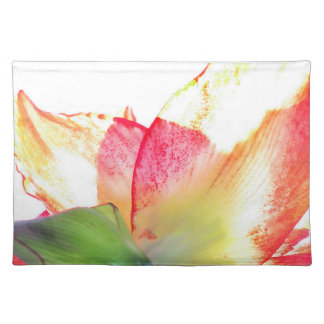 Red Gold Green Amaryllis Abstract Placemats