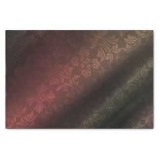 Red, Gold, Green Foral 10lb Tissue Paper