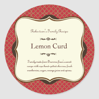 Red & Gold Holiday Label Sticker
