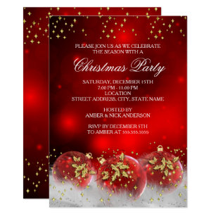 holly christmas party invitations zazzle uk