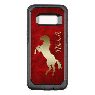 Red Gold Horse Personalized OtterBox Commuter Samsung Galaxy S8 Case