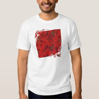 Red Gold Poinsettias Holiday  Gifts & Collectibles Shirts