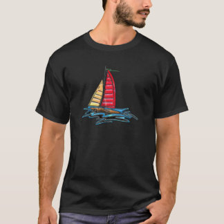 Red & Gold Sailboat T-Shirt