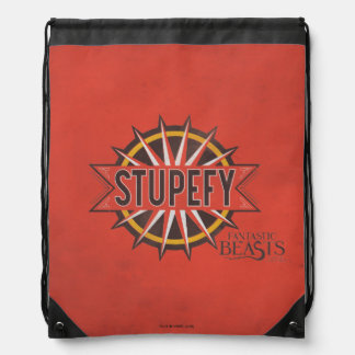 Red & Gold Stupefy Spell Graphic Drawstring Bag