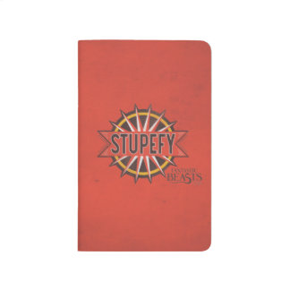 Red & Gold Stupefy Spell Graphic Journal