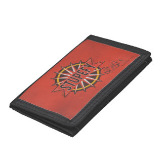 Red & Gold Stupefy Spell Graphic Tri-fold Wallets
