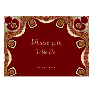 Red+Gold Tribal Royal Event Table Place Card Business Cards