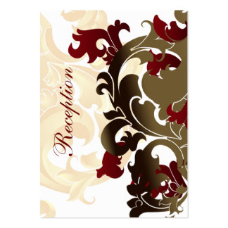 red gold wedding Reception Cards Business Cards