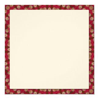Red Gold Yellow Star Mandala 13 Cm X 13 Cm Square Invitation Card