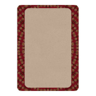 Red Gold Yellow Star Mandala 13 Cm X 18 Cm Invitation Card