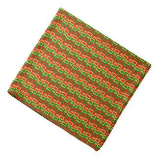 Red, golden and green snowman bandana
