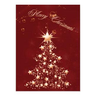 Red Golden Christmas 6.5 x 8.75 Invitation