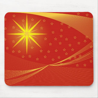 red golden christmas mouse pad