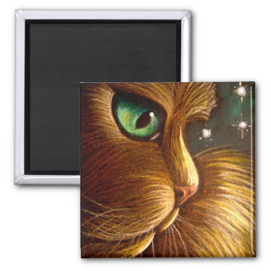 RED GOLDEN PERSIAN CAT HOLIDAY Magnet