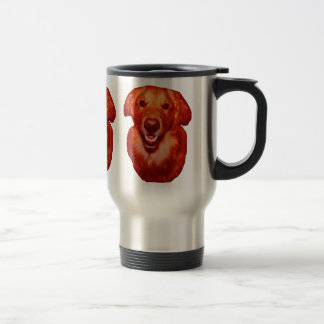 Red Golden Retriever Front Profile Stainless Steel Travel Mug