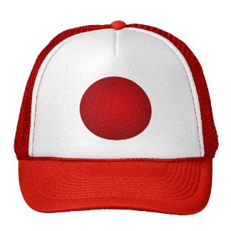 Red Golf Ball Cap