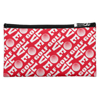 Red Golf Love Makeup Accessories Bag