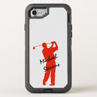 Red Golfer OtterBox Defender iPhone 8/7 Case