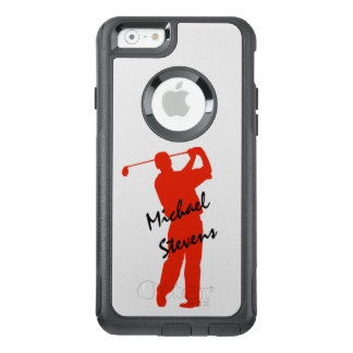 Red Golfer Swing OtterBox iPhone 6/6s Case