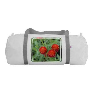Red Gomphrena Flowers Gym Duffel Bag