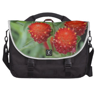 Red Gomphrena Flowers Bags For Laptop