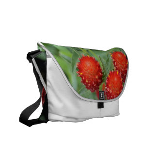 Red Gomphrena Flowers Courier Bag