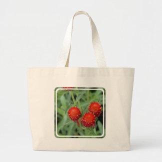 Red Gomphrena Flowers Jumbo Tote Bag