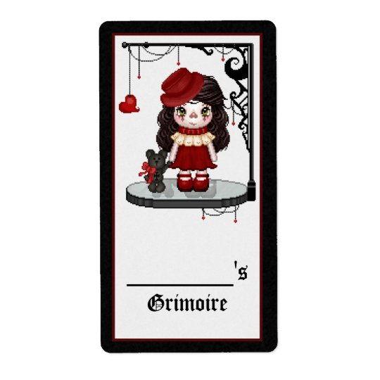 Red Gothic Love Doll Pixel Art