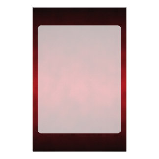Red Gothic Ombre Background Art Custom Stationery