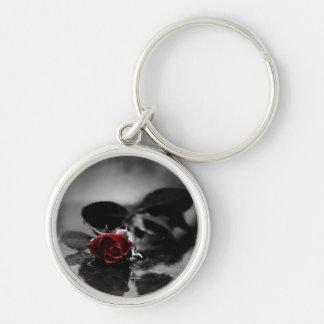 Red Gothic Rose Keychain