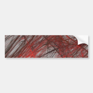 Red Gra Abstract Fractal Background Bumper Sticker