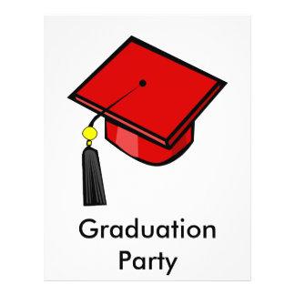 Red Graduation Cap Flyer Design