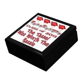 Red Graduation Caps Gift Box/Trinket Box Large Square Gift Box