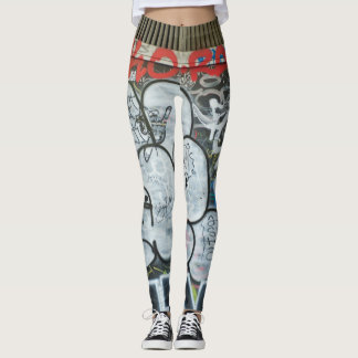 Red Graffiti Leggings
