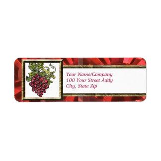 Red Grape Return Address Label