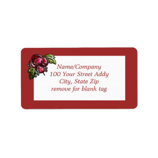 Red Grapes Address Label