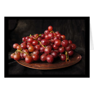 Red Grapes Card