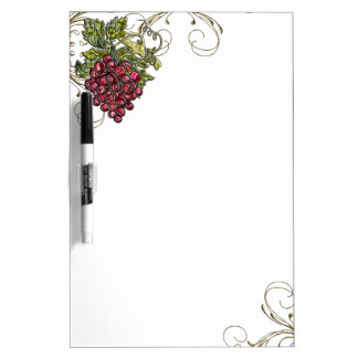 Red Grapes Dry Erase Whiteboard