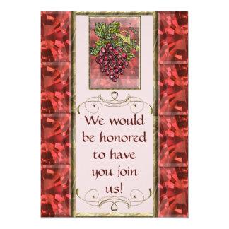 Red Grapes Personalized Invite