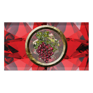 Red Grapes Pack Of Standard Business Cards