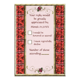 Red Grapes RSVP Personalized Invite