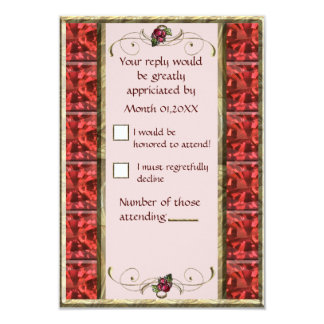"""Red Grapes RSVP 3.5"""" X 5"""" Invitation Card"""