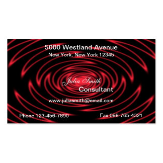 Red Graphic Business Cards