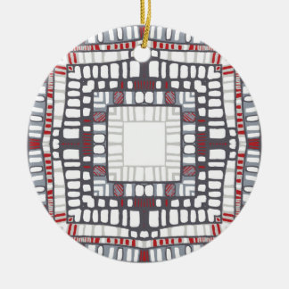 Red graphic christmas ornament