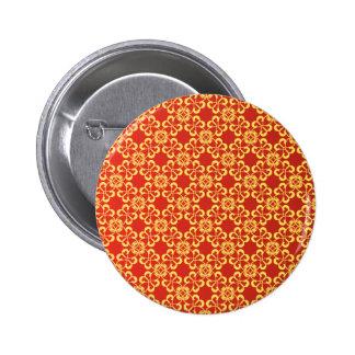 Red graphic Pattern 6 Cm Round Badge