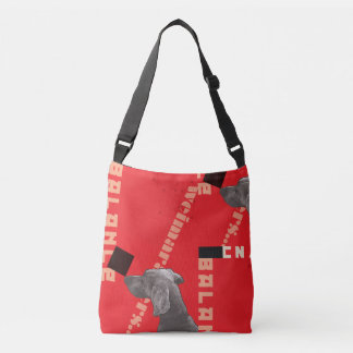 RED GRAPHIC WEIM CARRIER BAG