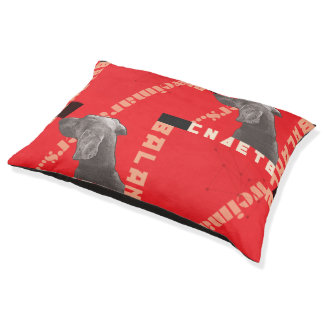 RED GRAPHIC WEIM INDOOR DOG BED - LARGE